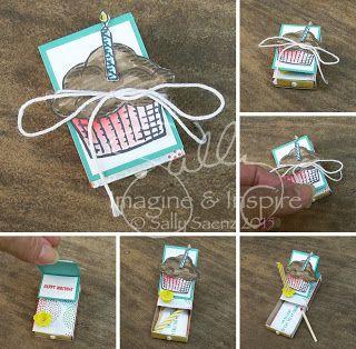 Micro Easel Card - Birthday Box! imagineANDinspire #stampinup
