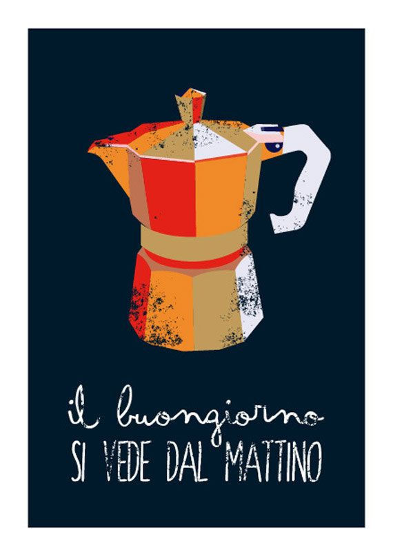 Typography Italian coffee Print typographic by ShufflePrints
