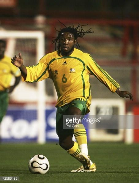 Macbeth Sibaya of South Africa in action during a International Friendly match between South Africa and Egypt for the Honourable Nelson Mandela...