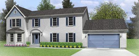 T268233-1 by Hallmark Homes Two Story Floorplan