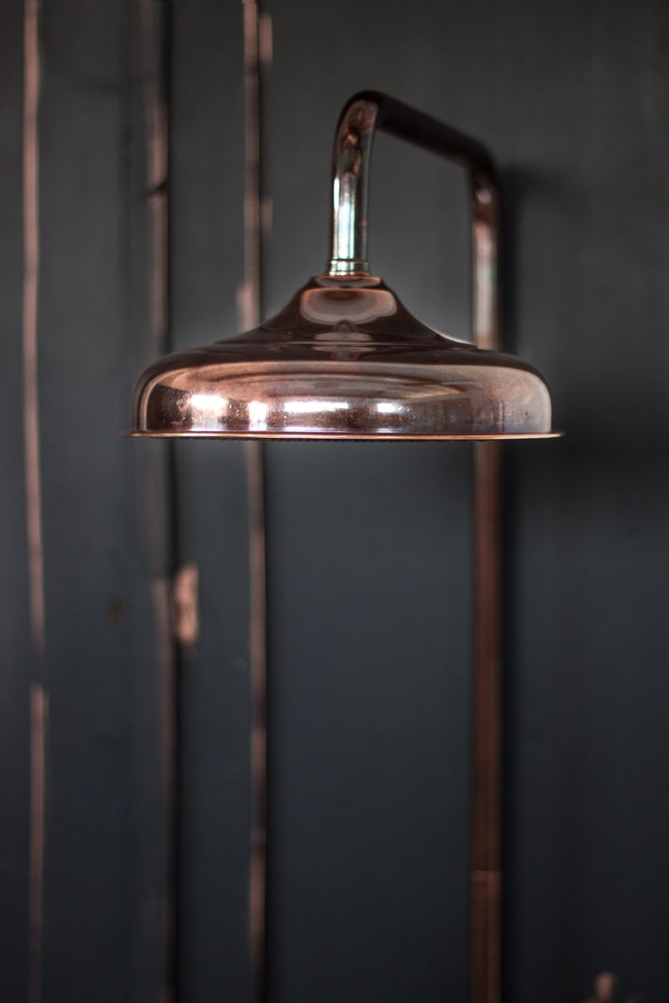 The Thermo Exposed Shower in Aged Copper Finish by Catchpole & Rye Bathrooms  #industrial #bathroom #design