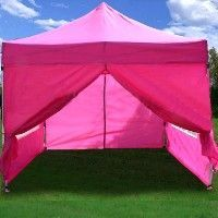 """This pink pop up tent is great for concessions and VIP Tents at your """"Kidchella"""" Themed Bash High Quality 10x15 Burnt Orange EZ Pop Up Canopy Party Tent Gazebo"""