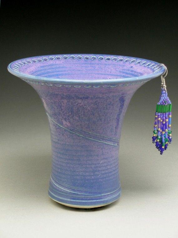Purple Earring Holder by barbpots on Etsy, $29.00