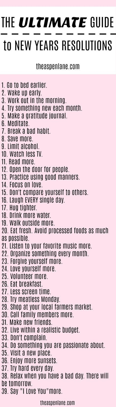 The Ultimate Guide Of 2018 New Years Resolutions 2018