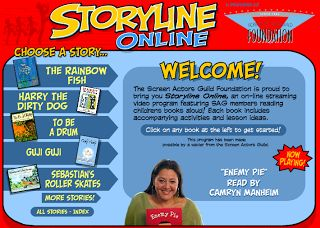 Storyline Online is a GREAT, FREE website! Use it for those last few minutes of class or to have a story read aloud when you are sick.