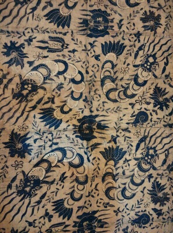 Batik udang  binatang laut/shrimp and sea creature,origin solo,1950.