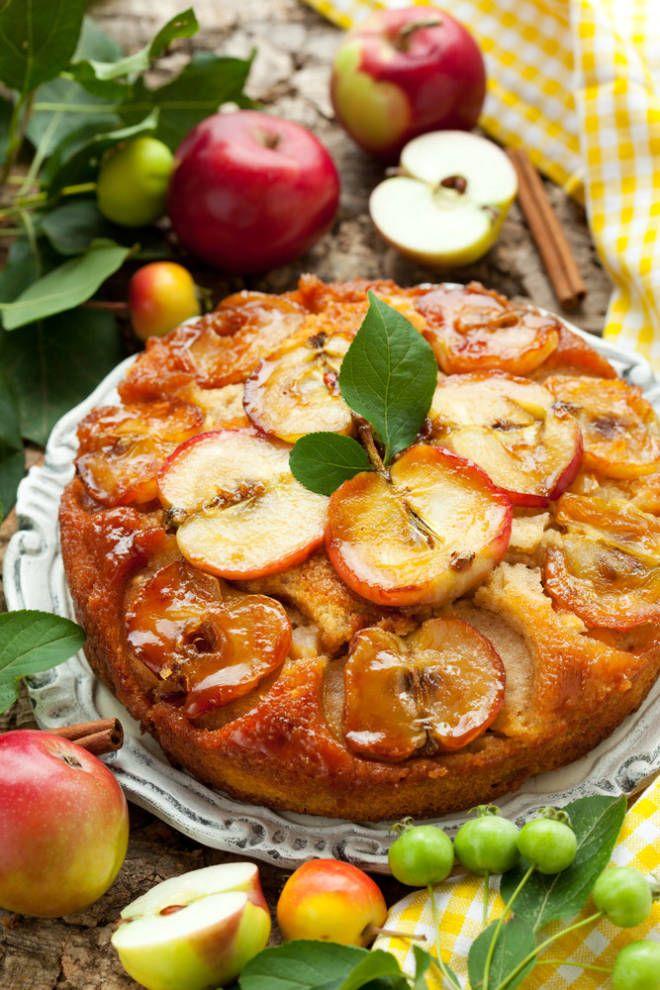 Apple Cinnamon Upside-Down Cake | Fall Food | Pinterest