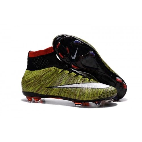 Salg Nike Mercurial Superfly FG ACC Billige Fotballsko Grønn Hvit