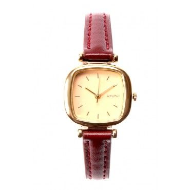Woman's classic Money Penny wrist watch in Gold Peach from Komono now available online ... just $79!