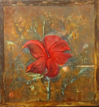 """Saatchi Online Artist Patricia Chaparro; Painting, """"WAITING FOR THE BEES"""" #art"""