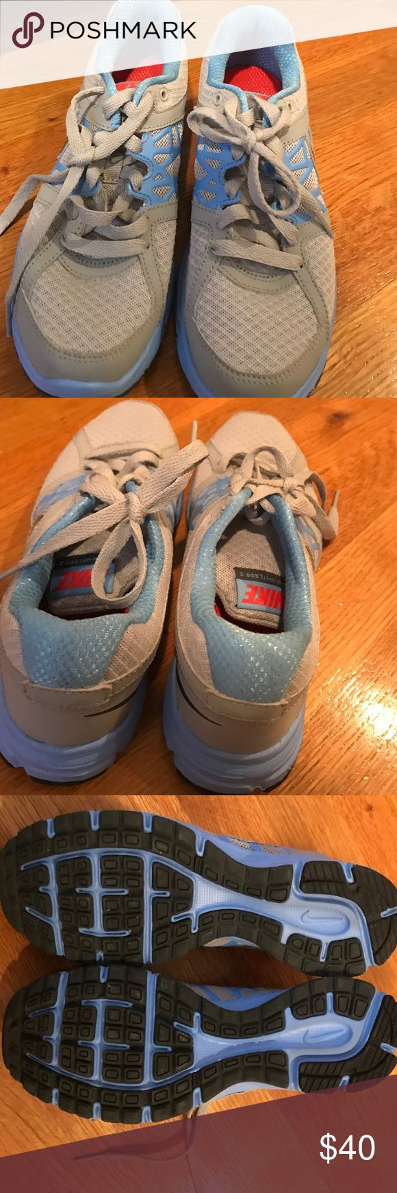 Like New Nike Sneakers size 6.5! Like new Nike Sneakers size 6.5.  Beautiful blue and gray.  Only worn ones in perfect condition but need a new home! Nike Shoes Sneakers