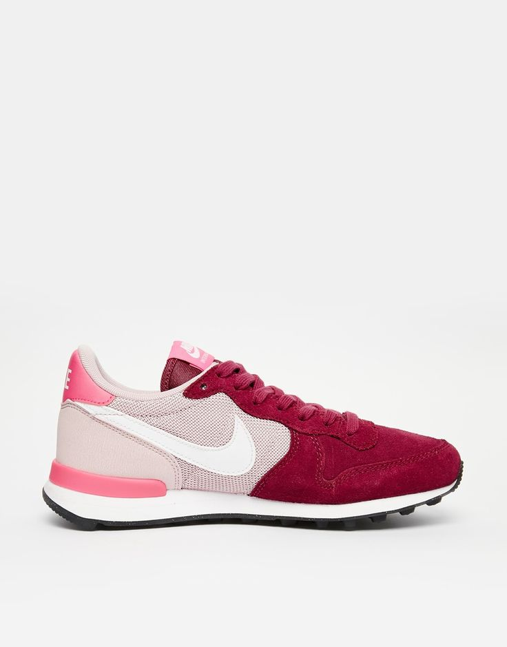 Nike Internationalist Burgundy and Pink Trainers, $146 CAD from ASOS; on sale for about $91 CAD from Nordstrom (http://shop.nordstrom.com/s/nike-internationalist-sneaker-women/4093982?origin=category&BaseUrl=Extended+Sizes)