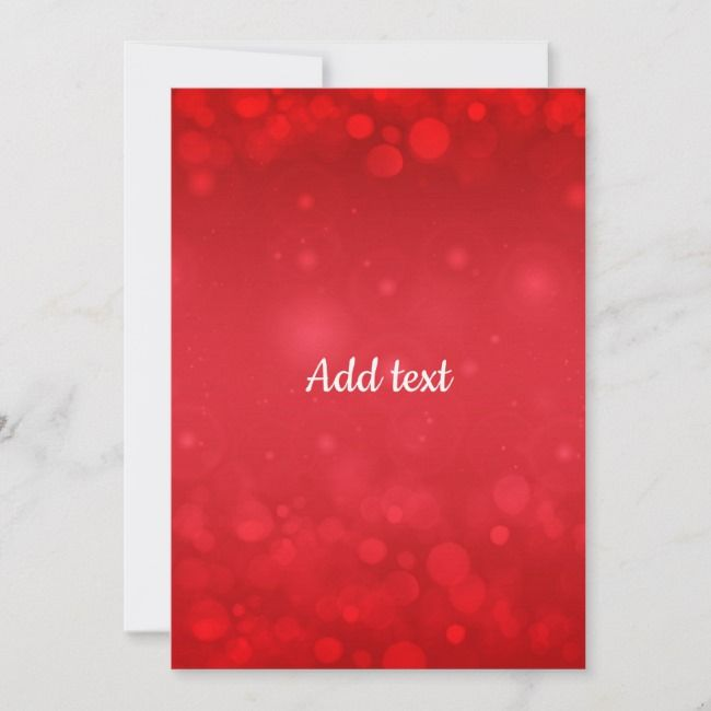 Red Bokeh Background Template Add Text Card Zazzle Com With