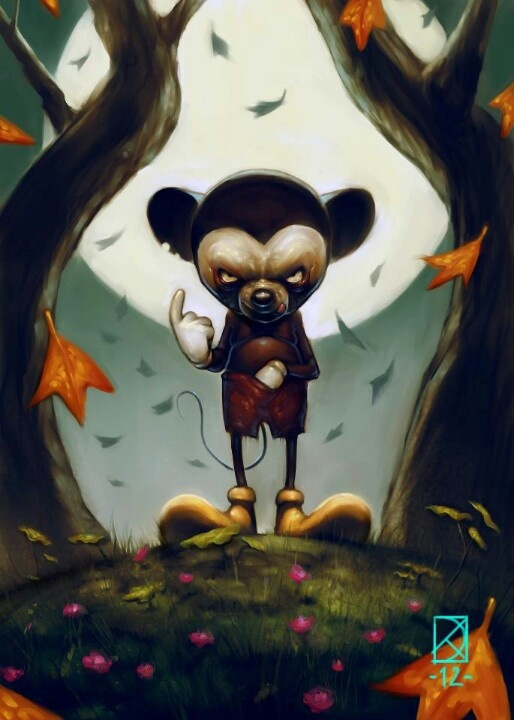 Demented mickey | that dark place | Art, Illustration ...