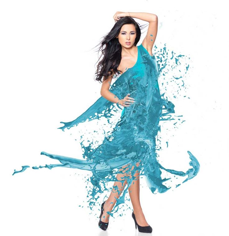 Photoshop in 60 Seconds: How to Create a Splash Dress  Design Psdtuts