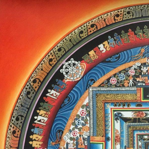 Kalachakra thangka, handmade in Kathmandu. | deTurf