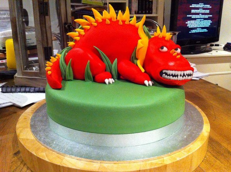Dinosaur cake Gluten-free Victoria sponge