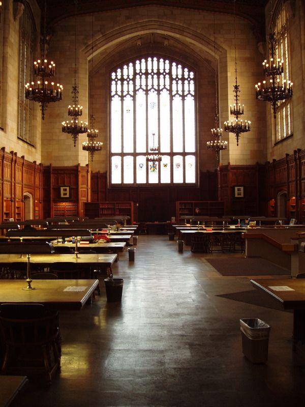 University Of Michigan Reading Room Law Quad Ann Arbor