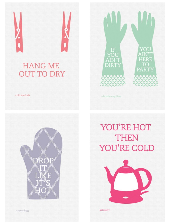 The tea towels that come out of the Dubble You studio are, literally, rocking! #teatowels #kitchenware