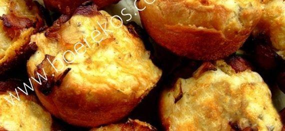 Slapdeeg Biltong en Kaas Muffins | Boerekos – Kook met Nostalgie