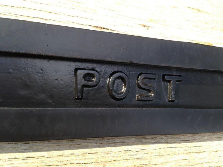 Briefschlitz rostfrei - großer Briefeinwurf für antike Haustüren - Briefkasten