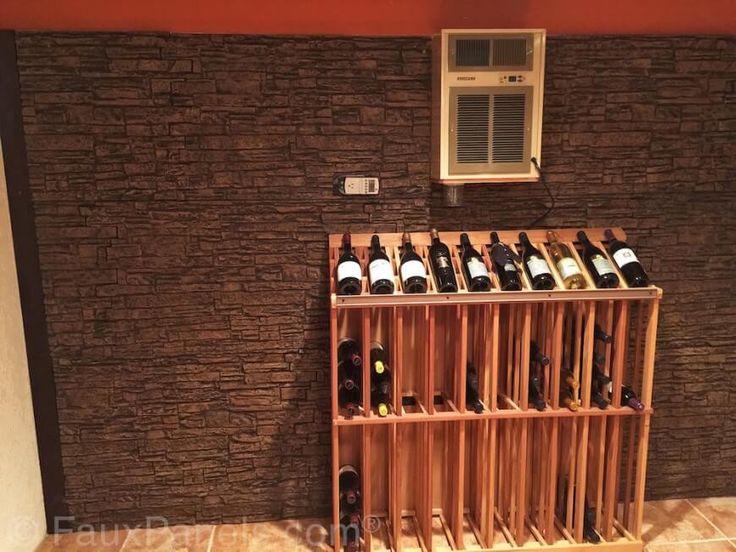 Wand Dekorplatten Stein :  Stein Verkleidung an eine Wand Es bietet Kontrast zur strukturierten