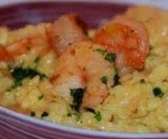Risotto crevettes-curry WW