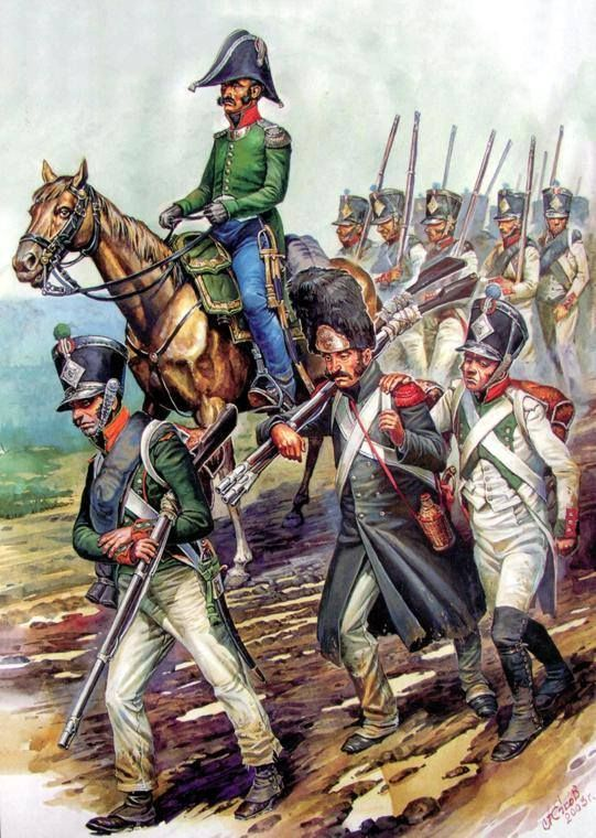Infantry of the Kingdom of Italy in March-1812. A. Yezhov.