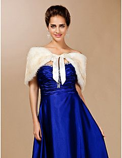 Feather/ Fur With Ribbons Wedding/ Party Shawls Bolero Shrug – EUR € 13.29