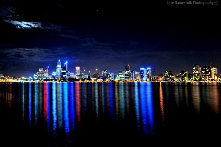 Perth City Reflections - Photograph By Kate Namestnik