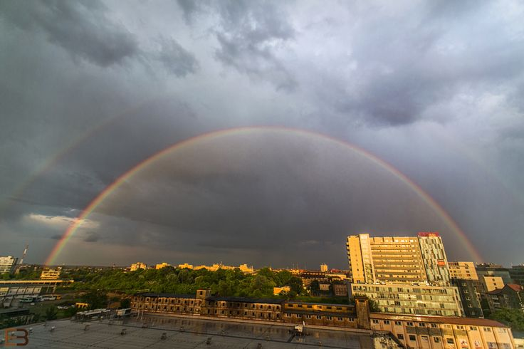 Double rainbow by Ervin Boer on 500px