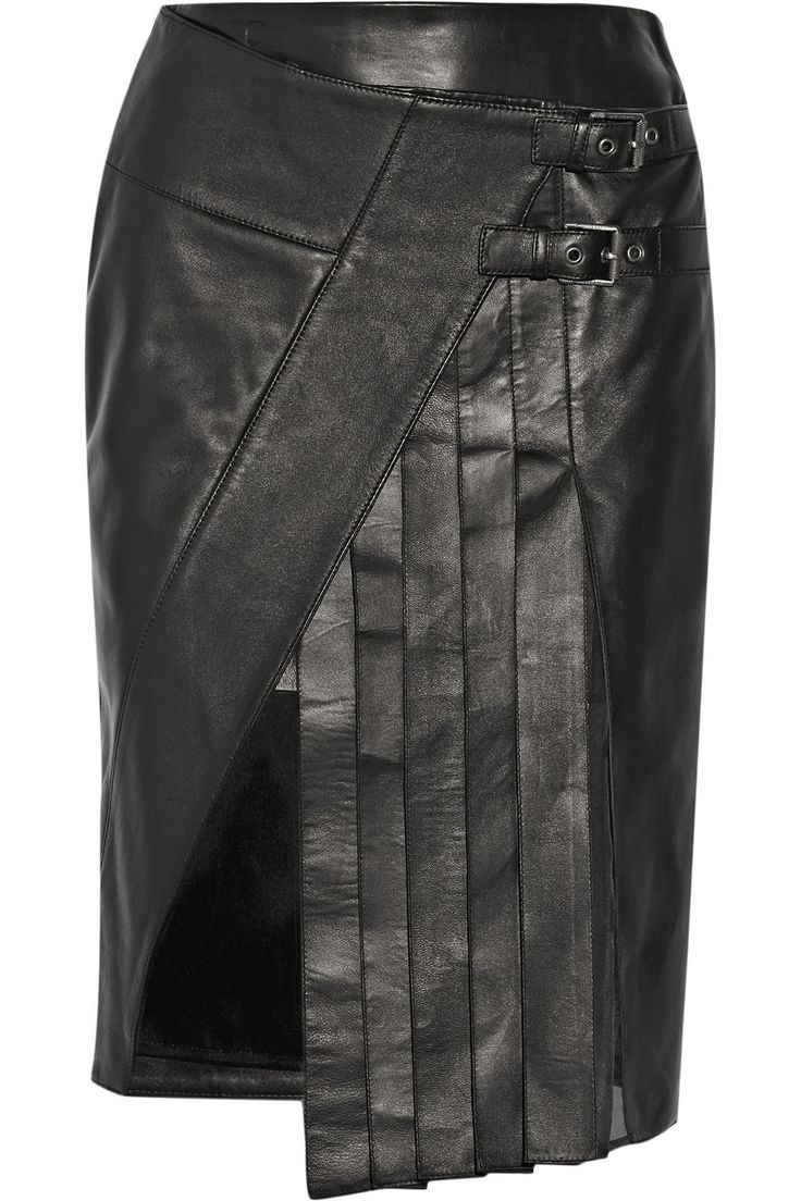 How To Style Winter Coats - Net-A-Porter Lookbook #leatherskirt
