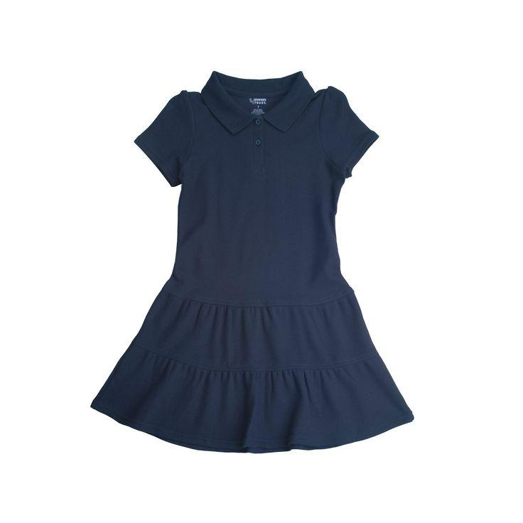 Girls 7-14 French Toast School Uniform Pique Polo Dress, Size: 14-16, Blue (Navy)