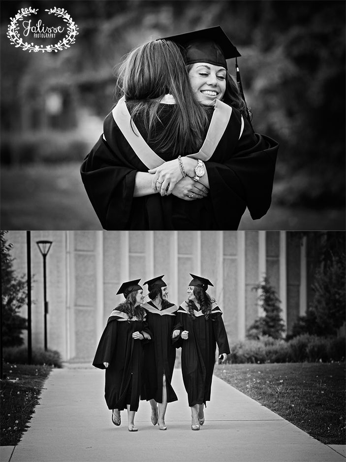 University Friends Graduation | Cap and gown |  Candids {Jalisse Photography} Black and White Photography