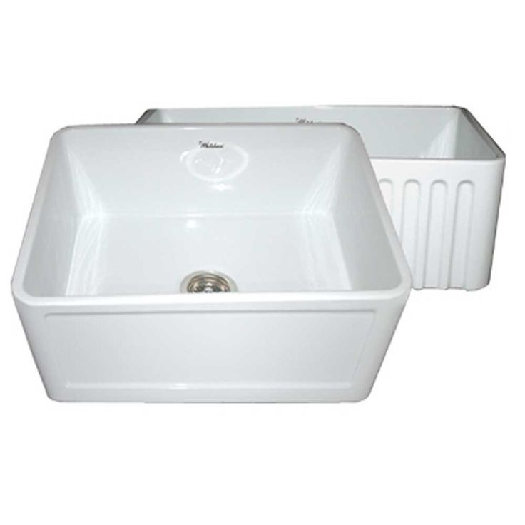 whitehaus collection reversible concave farmhaus apron front fireclay 24 in single basin kitchen sink in white. beautiful ideas. Home Design Ideas