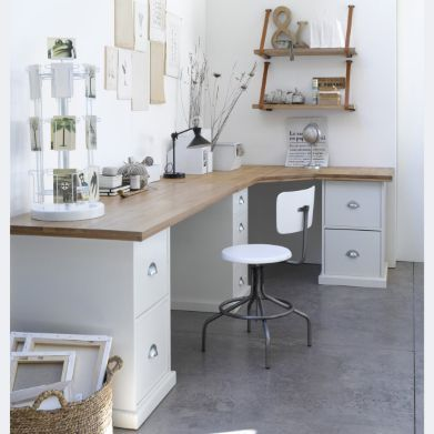 Love the drawers as desk supports.