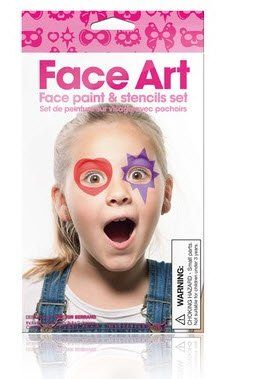 Girl Face Art Face Painting Kit by NPW. $6.95. Face painting made easy. Set of stencils. Face painting made easy! Each set of stencils makes it easy to have professional face painting results. Start by tracing around the outside of the card stencil, then fill in the colors with six skin-friendly face paint crayons. Each set includes full-face mask stencils, masquerade mask stencils, and assorted smaller stencils for eyes and cheeks. Also comes with six skin-friend...