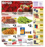 Current BI-LO weekly ad, BOGO Mother's Day Sale!, Page 1