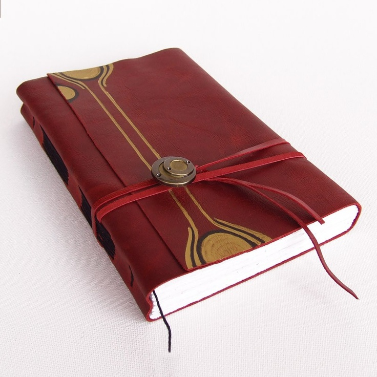 Future Signs - Red Leather Journal by Baghy  http://www.etsy.com/listing/23467130/future-signs-red-leather-journal#