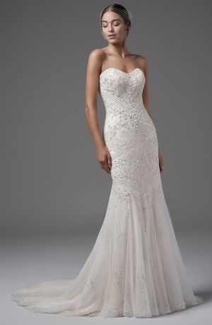 Sweetheart Mermaid Wedding Dress  with No Waist/Princess Seams. Bridal Gown Style Number:33500380