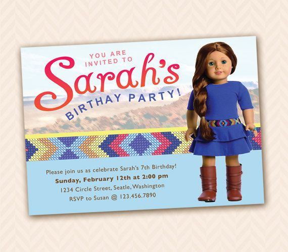 9 best American Girl Birthday images – Doll Party Invitations