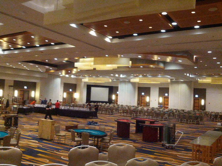 Getting set up for the 9th Annual Casino Chicago at Swissotel Chicago  05/04/13