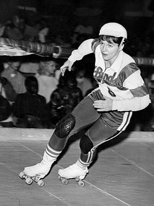 Los Angeles Thunderbirds Captain Terri Lynch Competing In The Roller Game In 1969 In
