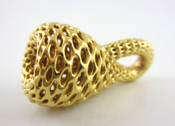 3D Printed klein bottle Pendant - Math Art by @Dizingof by Dizingof, via Flickr