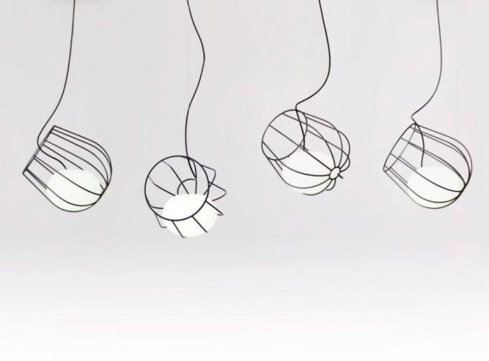 Light Inside a Metallic Basket