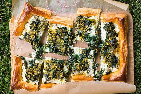 Ricotta, silverbeet and dukkah tart – Recipes – Bite