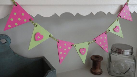 Mini wooden bunting $17.00 - in stock