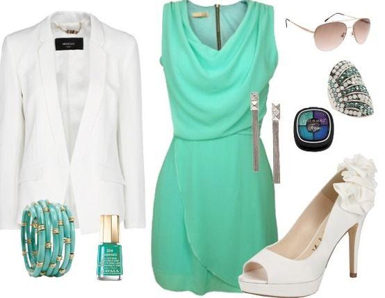 Een mooie, chique outfit voor een zomerfeest, trouwfeest of een andere feestgelegenheid.