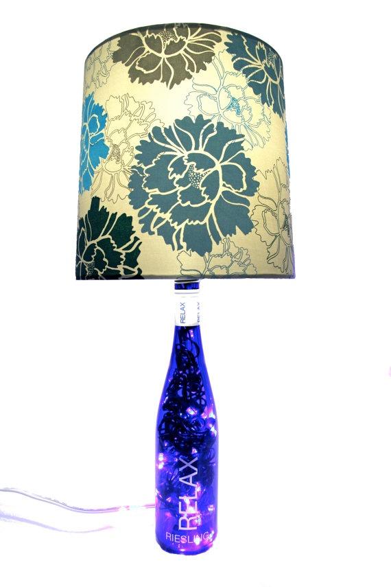 Lighted Wine Bottle Lamp