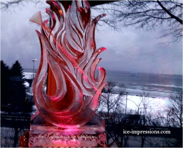 Fire captured in ice